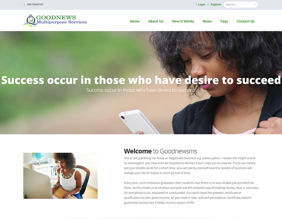 MLM, recharge card and daily contribution Website